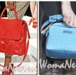 красная и голубая сумки