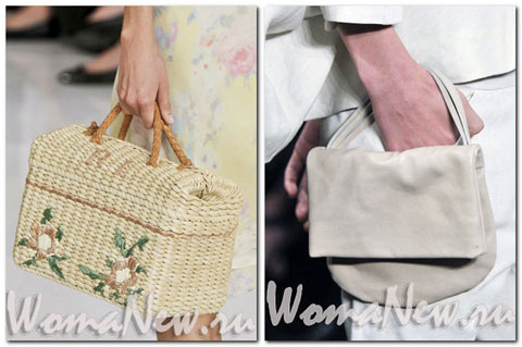 соломенная женская сумочка