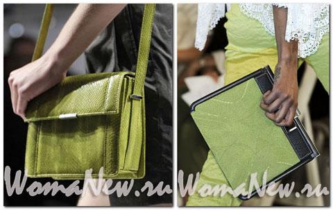 зелёные женские сумки 2012