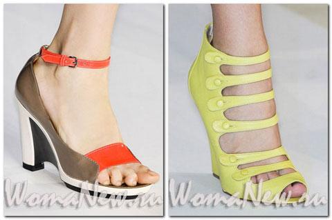 Босоножки, сандалии, гламурные кеды и другая стильная обувь весна-лето 2012 года.