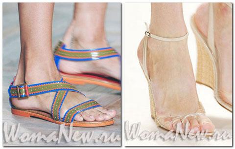 сандалии женские прозрачные
