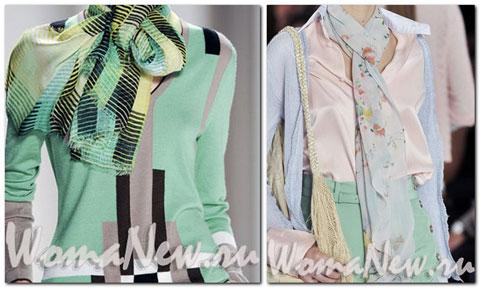 шарфы цветные