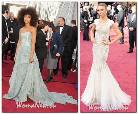 светлые платья Оскар 2012