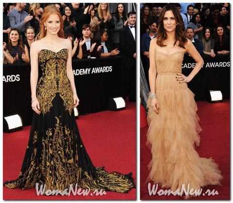 платье Оскар 2012 Джесика Честеин
