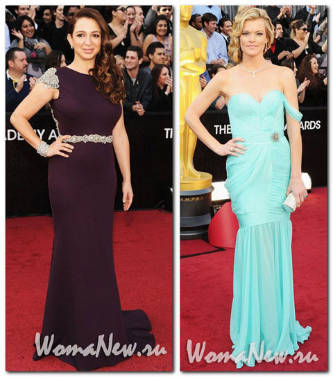 голубое платье Оскар 2012