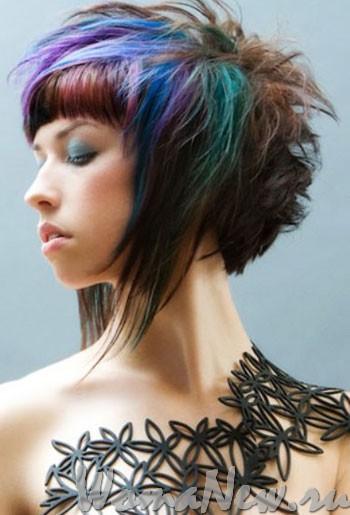причёска разноцветные волосы
