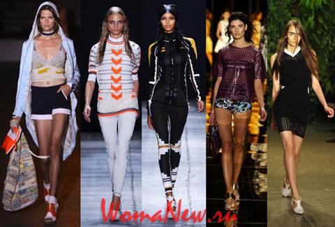 модели в спортивной одежде