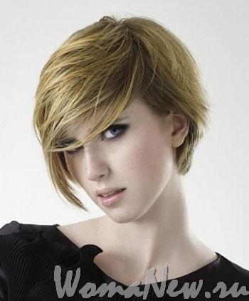 Модные в 2012 году ассиметричные стрижки на коротких волосах. Фото.