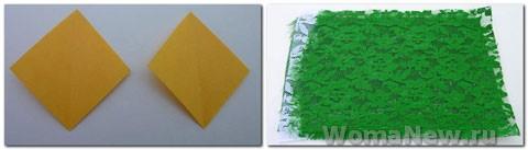сережки зеленые