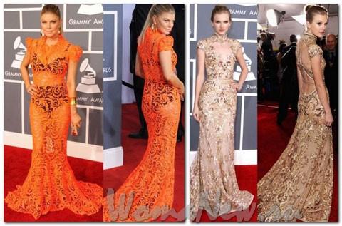 Ферги в ораневом платье
