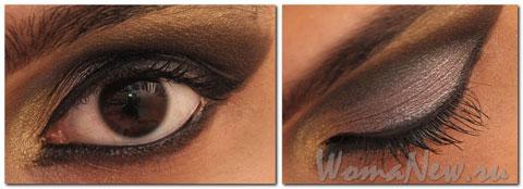 коричневый макияж глаз