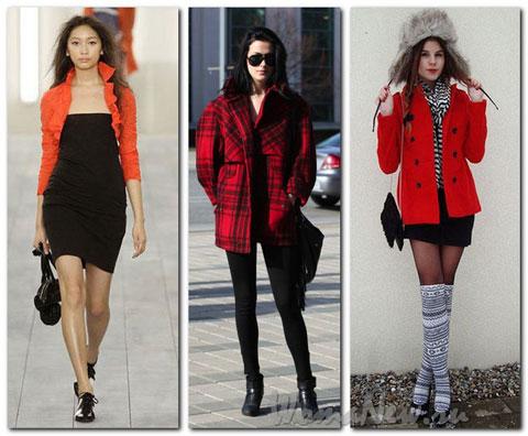 красная одежда с чёрным сочетание