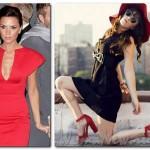 красное платье виктории бекхем