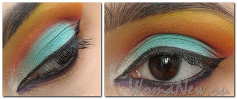 макияж карие глаза