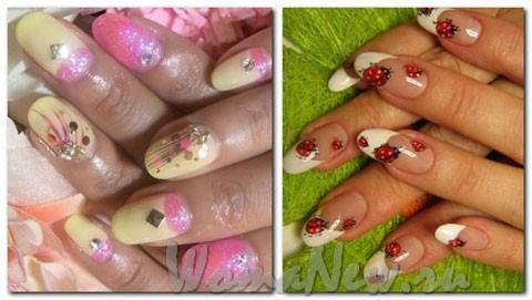 коровки на ногтях