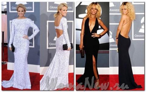 Самые лучшие платья на Гремми 2012. Фото