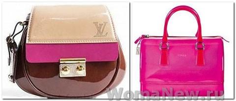 розовые сумки