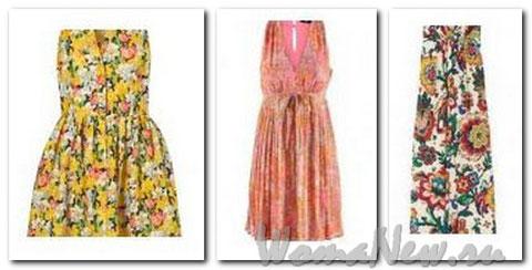 цветные платья летние