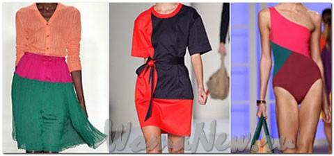 Правильное сочетание нескольких цветов одежды в одном наряде.