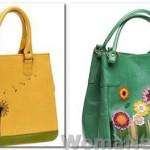 желтая и зеленая сумки