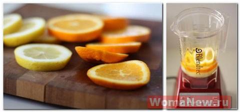 апельсины в блендере
