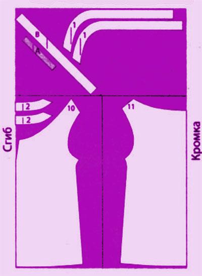 детали выкройки блузки