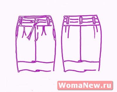 Выкройка узкой юбки.
