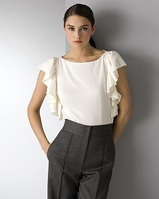 Романтичная блузочка с рюшами. Выкройка.