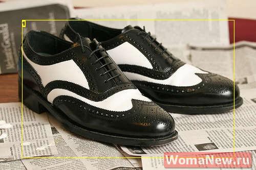 Интересная перекраска обуви.