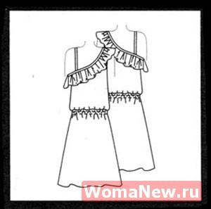 Бесплатная легкая выкройка красивого платья.