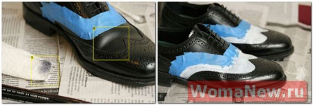 как покрасить обувь