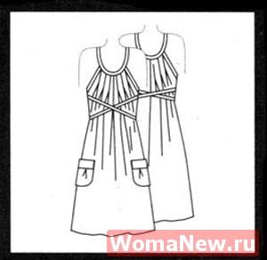 Красивое платье для 44 размера. Выкройка бесплатно.