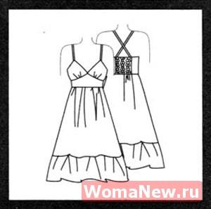Платье 48 размера. Выкройка бесплатно.