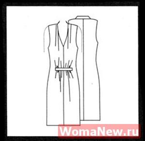 Платье без рукавов. Бесплатная выкройка 50 размера.