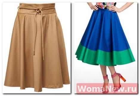 Простая выкройка — красивая юбка «полусолнце».