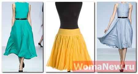 Простая выкройка — юбка «солнце».