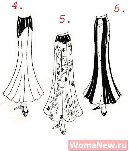 Вечерние юбки с выкройками
