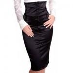 юбка с высоким поясом