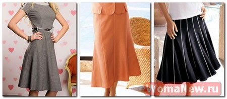 Сшить юбку клиньями для девочки
