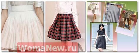 Как пошить девочке юбку в складку