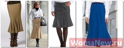 женские юбки годе