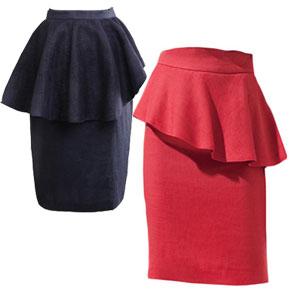 Выкройка стильной юбки — юбка с баской.