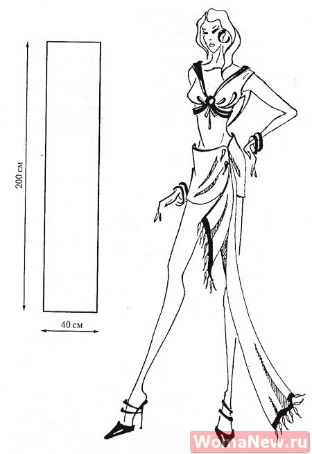 Следующая модель выкройки юбки