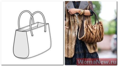 выкройка сумки из меха