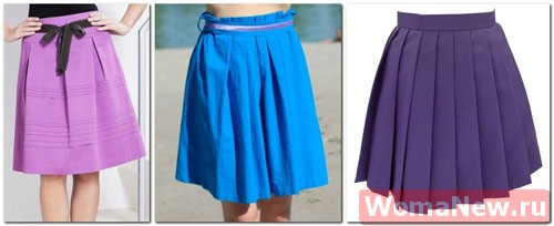 Сшить юбку со складками на карманах