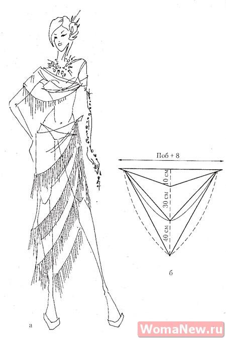 выкройка юбки для танцев