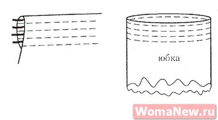 выкройка юбки на резинке