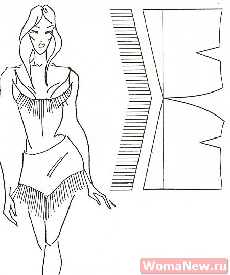 выкройки юбки для танцев