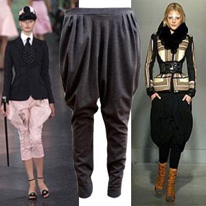 Выкройка модных брюк галифе.