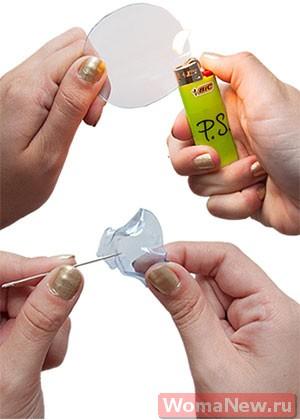 серьги сделать из пластмассы